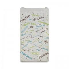 Sachet croissants kraft blanc série COTILLONS 12 x 5 x 21 cm (n°102) - par 1000