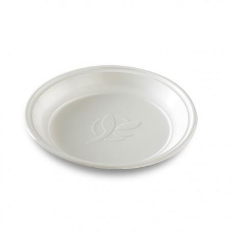 Assiette ronde biodégradable en PLA Ø 12,5 cm - par 100