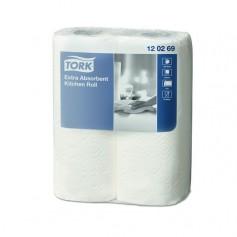 Rouleau essuie-tout compact multi usage 2 plis - carton de 12