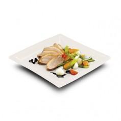 Assiette carrée biodégradable en PLA Ø 24 cm - par 50