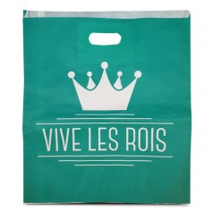 """Sac galette """"Vive les rois"""" ingraissable 35 x 3 x 40 cm - par 100"""