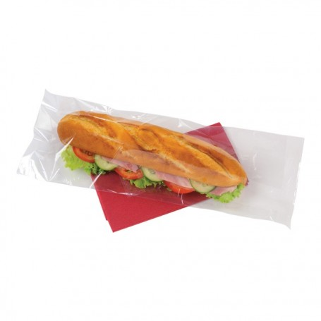 Sac sandwich transparent plastique perforé 10 x 5 x 35 cm - par 500