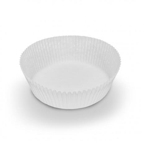 Caissette plissée blanche 8,1 x 3 cm - paquet de 1000