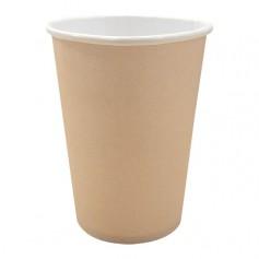 Gobelet vert en carton 34 cl pour boissons chaudes - par 50