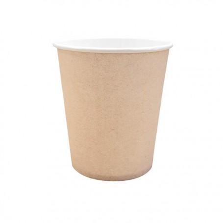 Gobelet à café marron en carton 11 cl - par 50