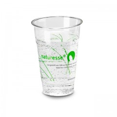 Gobelet transparent en PLA impression Naturesse 250 ml - par 1000