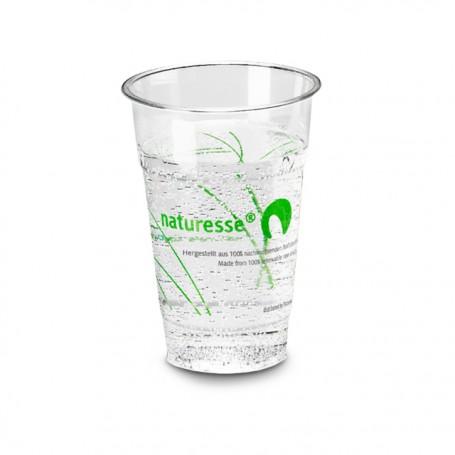Gobelet transparent en PLA impression Naturesse 250 ml - par 1000